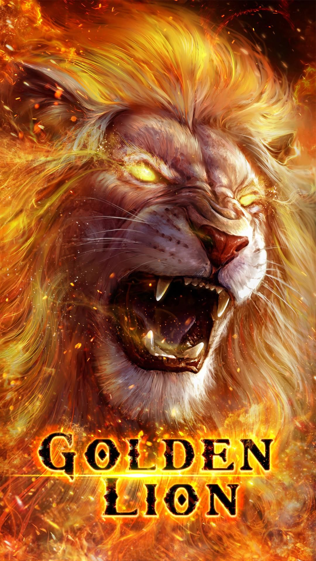 Golden lion live wallpaper! Lion live wallpaper