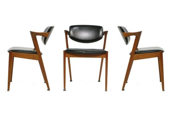 Kai Kristiansen Danish modernist dining chairs Spotted at www