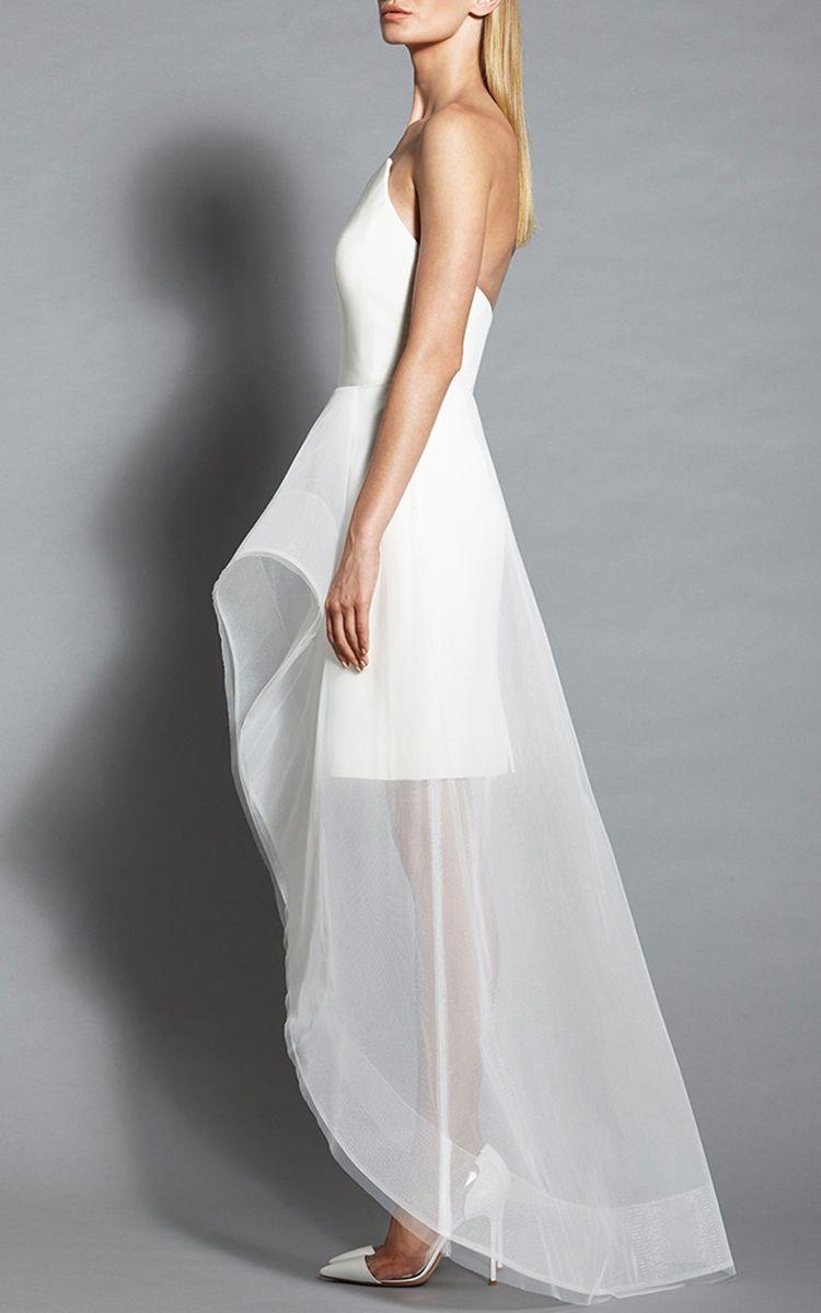 Asymmetrical Neck Cocktail Dress by Romona Keveža | Moda Operandi ...