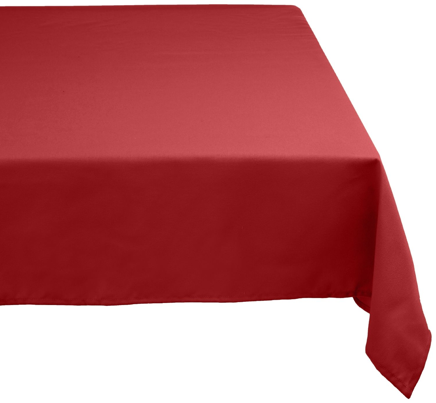 Amazon.com   DII 100% Polyester, Machine Washable Tablecloth Wine 52x70,  60x104