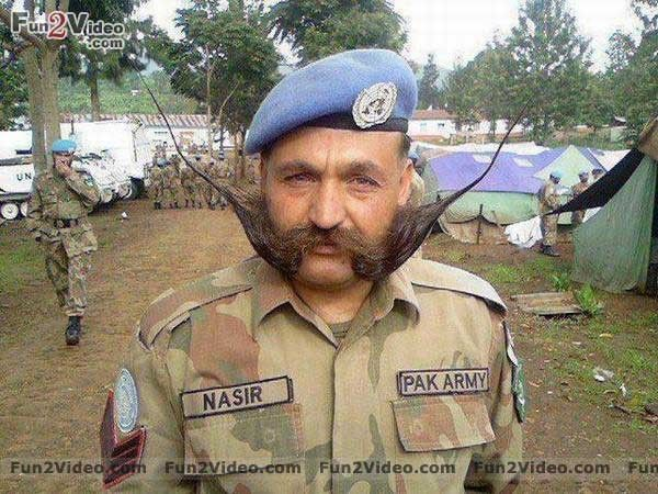 Funny Mustaches Pak Army Pakistan Armed Forces Desi Memes