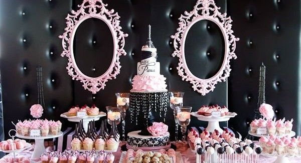 Pink And Black Paris Inspired Baby Shower. My Ideal Baby Shower