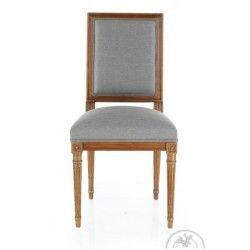 Chaise Louis Xvi Tissu Marron Soutenu Trianon Chaise Ancienne Meuble Salle A Manger Mobilier De Salon