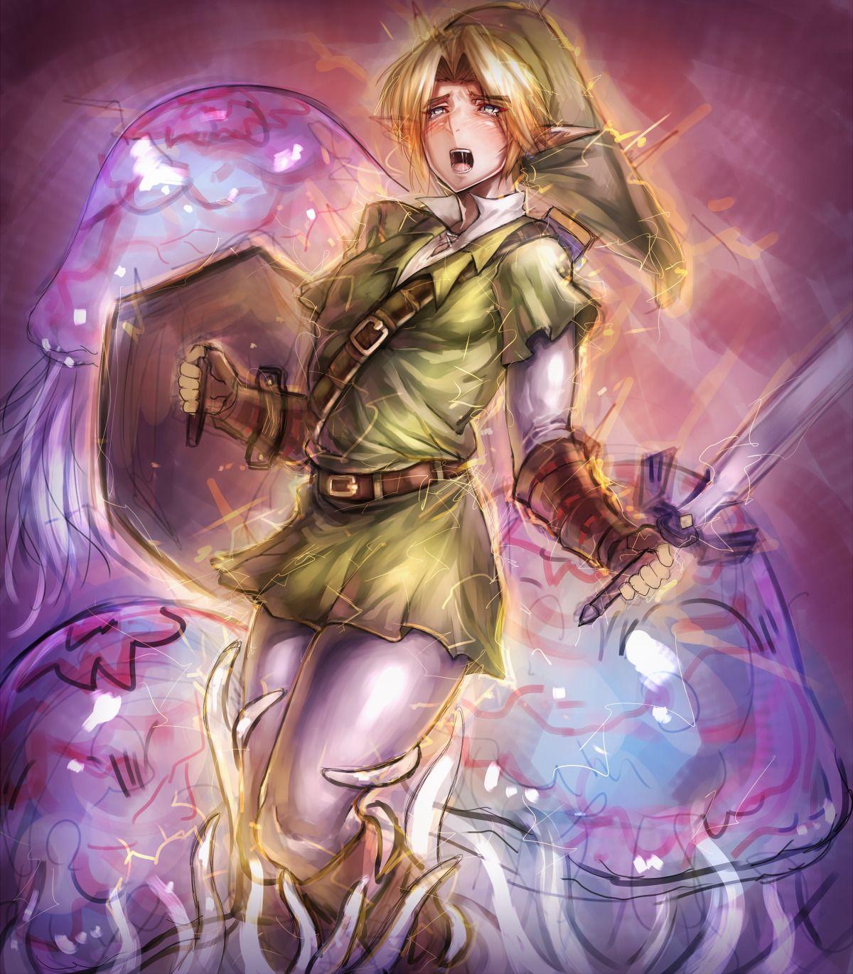 Link tentacles Anime crossover, Zelda art, Tentacle