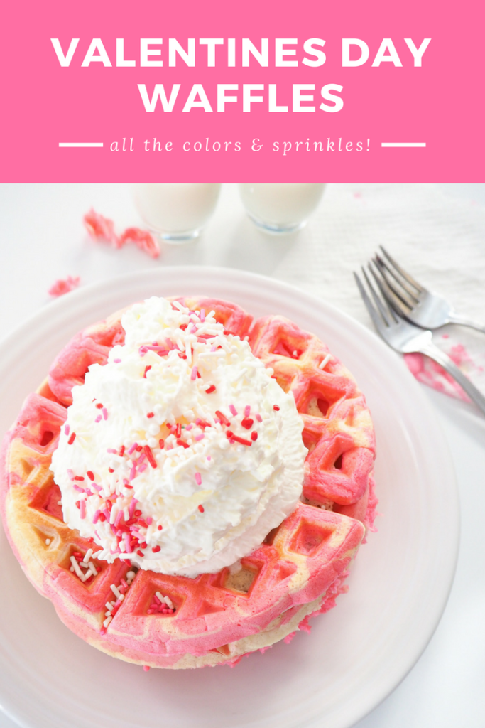 Valentine's Day Breakfast Waffles | http://www.thethingaboutjoy.com/breakfast-idea-colored-waffles-for-valentines-day/