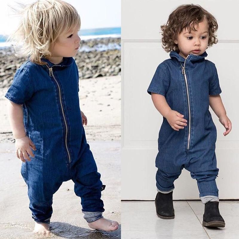 Denim Toddler Euro Jumpsuit Kids Clothes Baby Boy Outfits