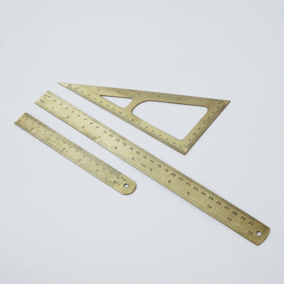 Triangle Linjal, Mässing Monograph (met afbeeldingen