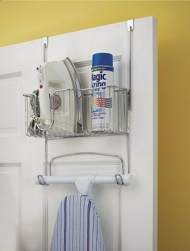 Attach Or Hang An Organizer So That All Your Ironing Tools Are In One Place 47 Insanely Clever Storage Id Ironing Board Storage Ironing Board Holder Storage