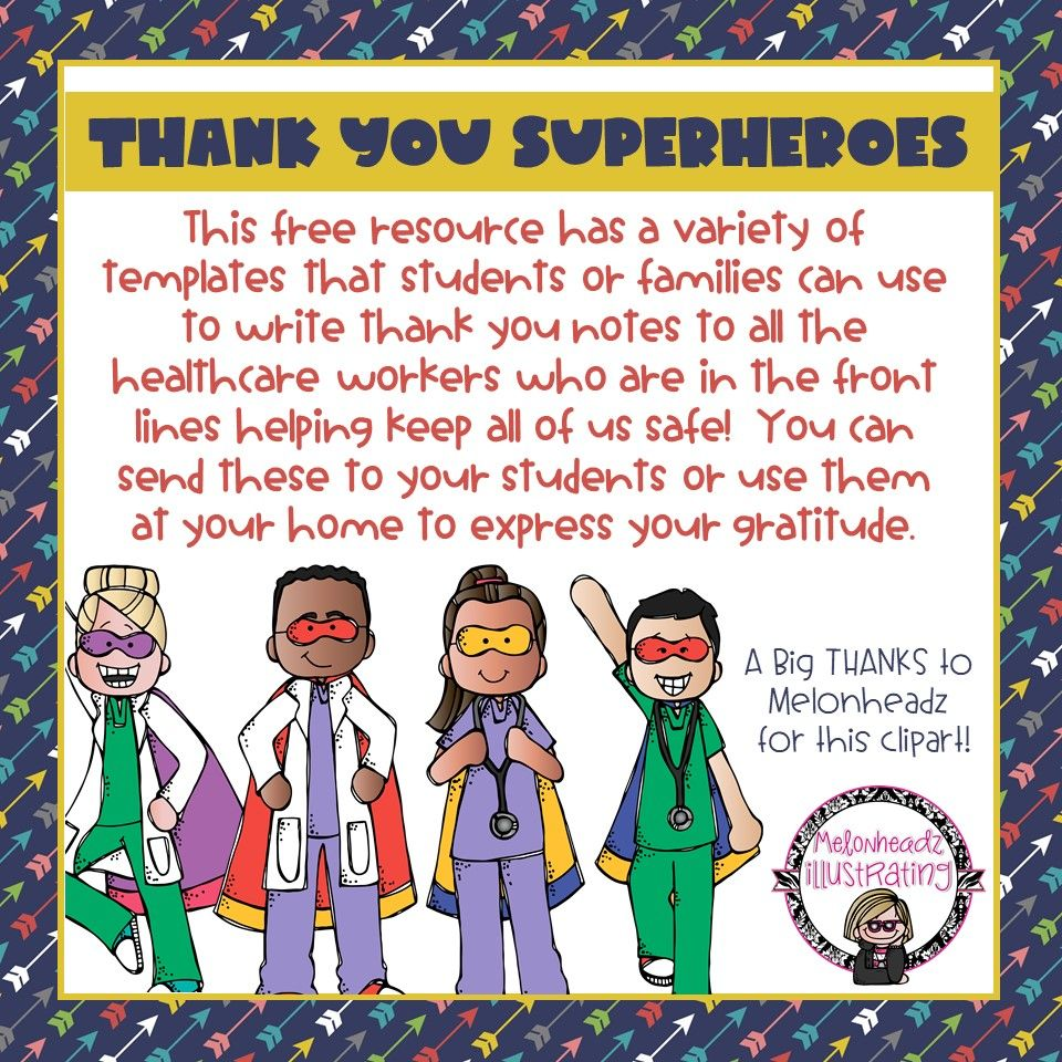 Thank You Notes For Health Care Workers Thank You Template 2nd Grade Reading Comprehension Teaching Teachers