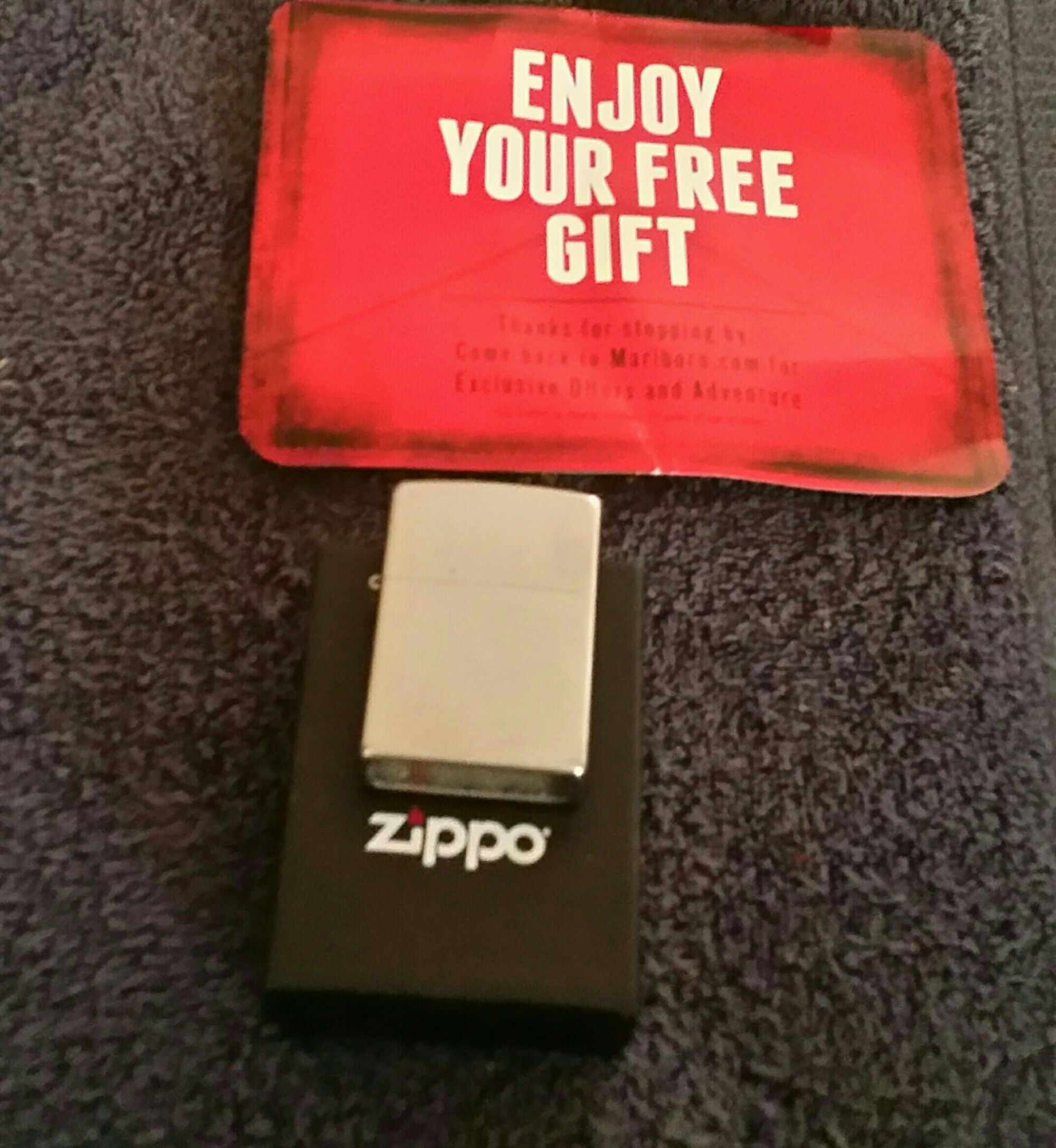 Free marlboro zippo