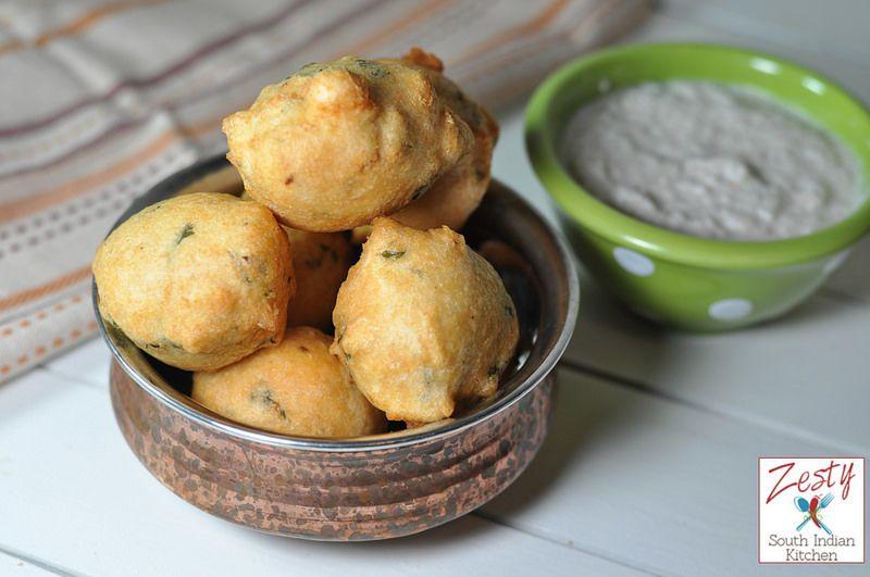 Mysore Bonda -  delicious protein rich snack Zesty South Indian Kitchen