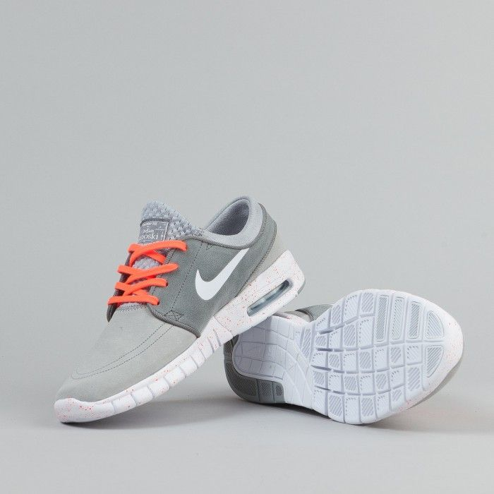 buy popular 220c0 0f342 Nike SB Stefan Janoski Max Suede Shoes - Wolf Grey   White   Cool Grey    Hot Lava   Flatspot
