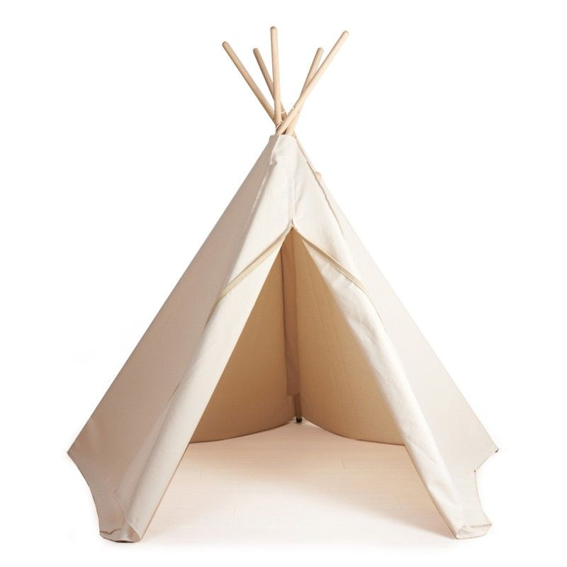 white tipi weisses tipi indianerzelt kinderzimmer pinterest indianerzelt zelten und. Black Bedroom Furniture Sets. Home Design Ideas