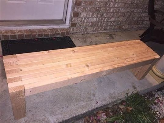 How To Make Simple A 2x4 Bench Seat Woodworking Diy