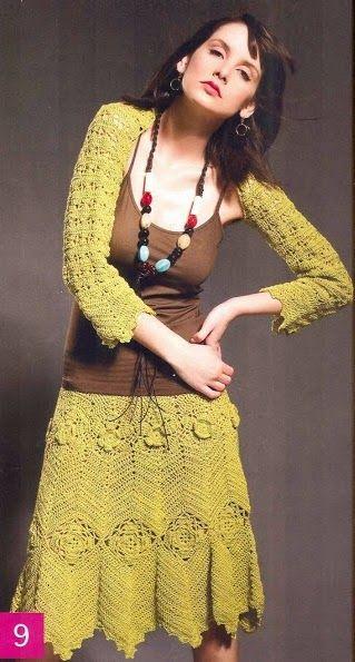 Patrón #367: Chaleco + Falda a Crochet #ctejidas http://blgs.co/Gv38-G