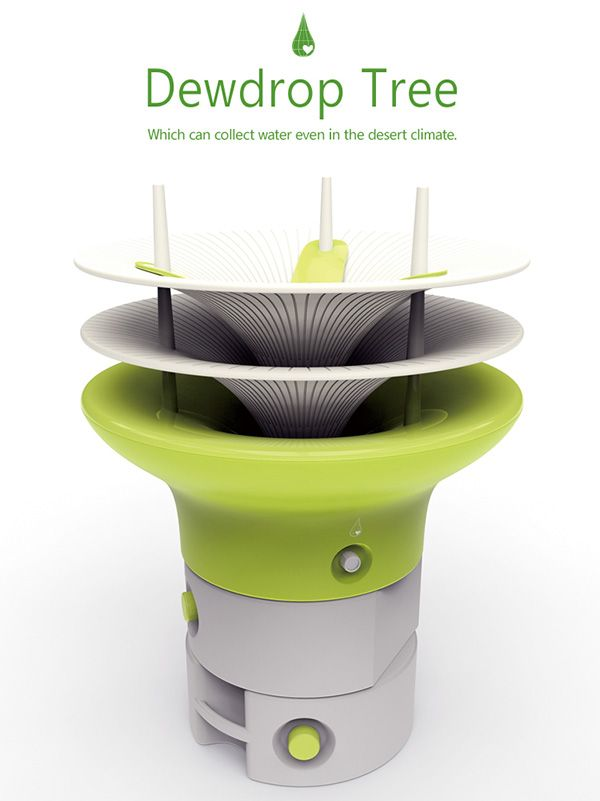 Dewdrop Tree Water Collection Unit By Taesik Yoon Water From