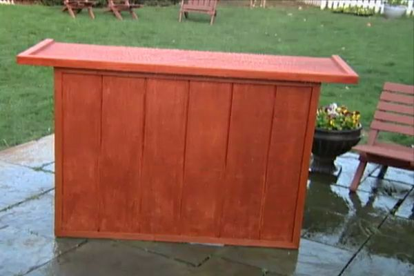 Build A Knock Down Outdoor Serving Bar; Watch A Video Of Step By