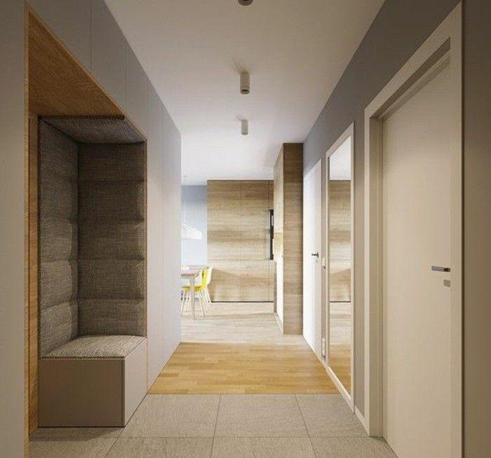 Flur Einrichten Farbgestaltung Flur Flur In Beige Gestalten Fliesen Und Holz Flur Einrichten Haus Einrichten Luxus Interieur