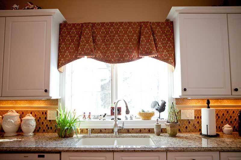 Curtain over kitchen sink contemporary kitchen curtains