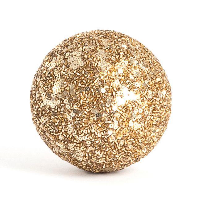 Silver Decorative Balls Saro Seed Bead Decorative Ball Set Of 4 Silver Beads