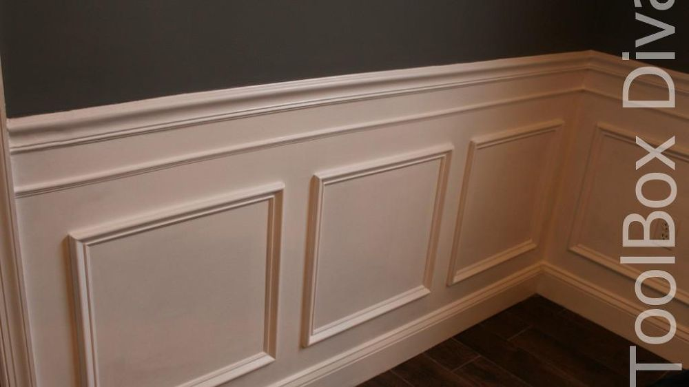 Install Picture Frame Moulding - Budget Friendly Wainscoting ...