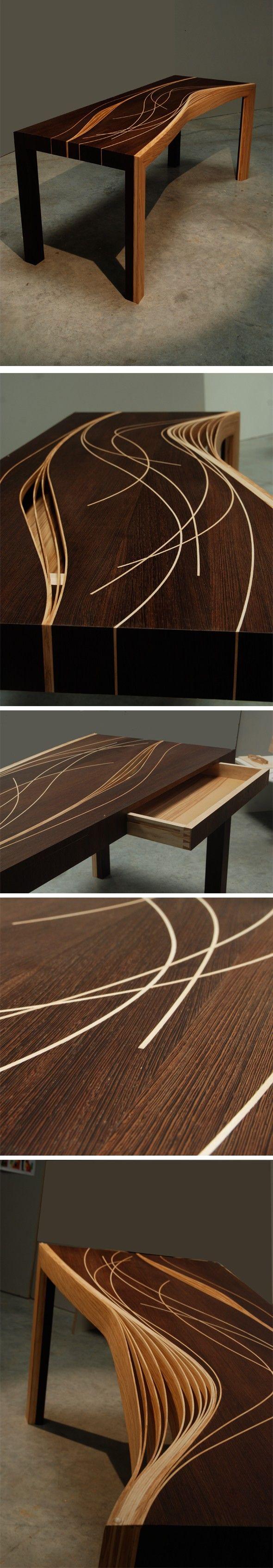 Bureau en bois d 39 aur lien fraisse mobilier pinterest m bel holz et ausgefallene m bel - Ebeniste designer meubles ...