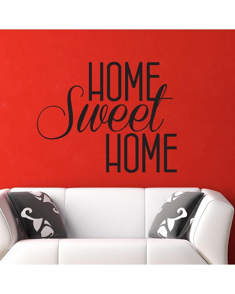 Ambiance Home Sweet Home Home Decor Decal Made In Belgium