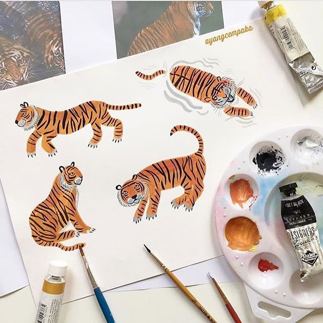 From Paper To Fabric Sumatran Tiger 50 Sale At