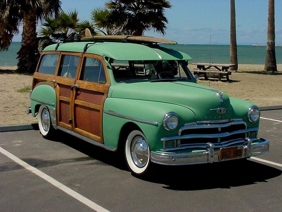 1950 Plymouth Woody Station Wagon Cars Plymouth Cars Beach Cars