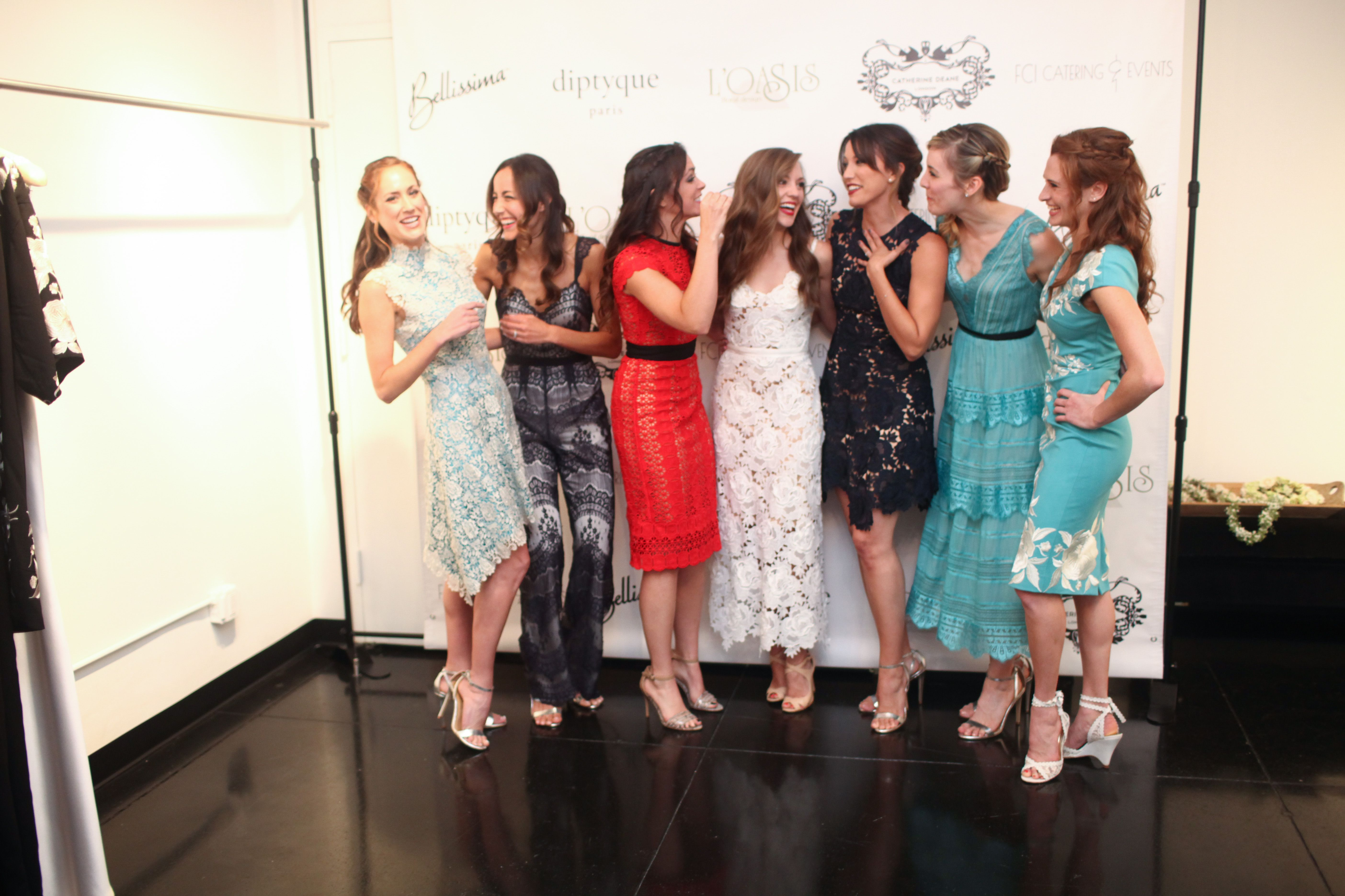 Models and Laura Osnes- Models wear SS17 RTW designs by Catherine Deane