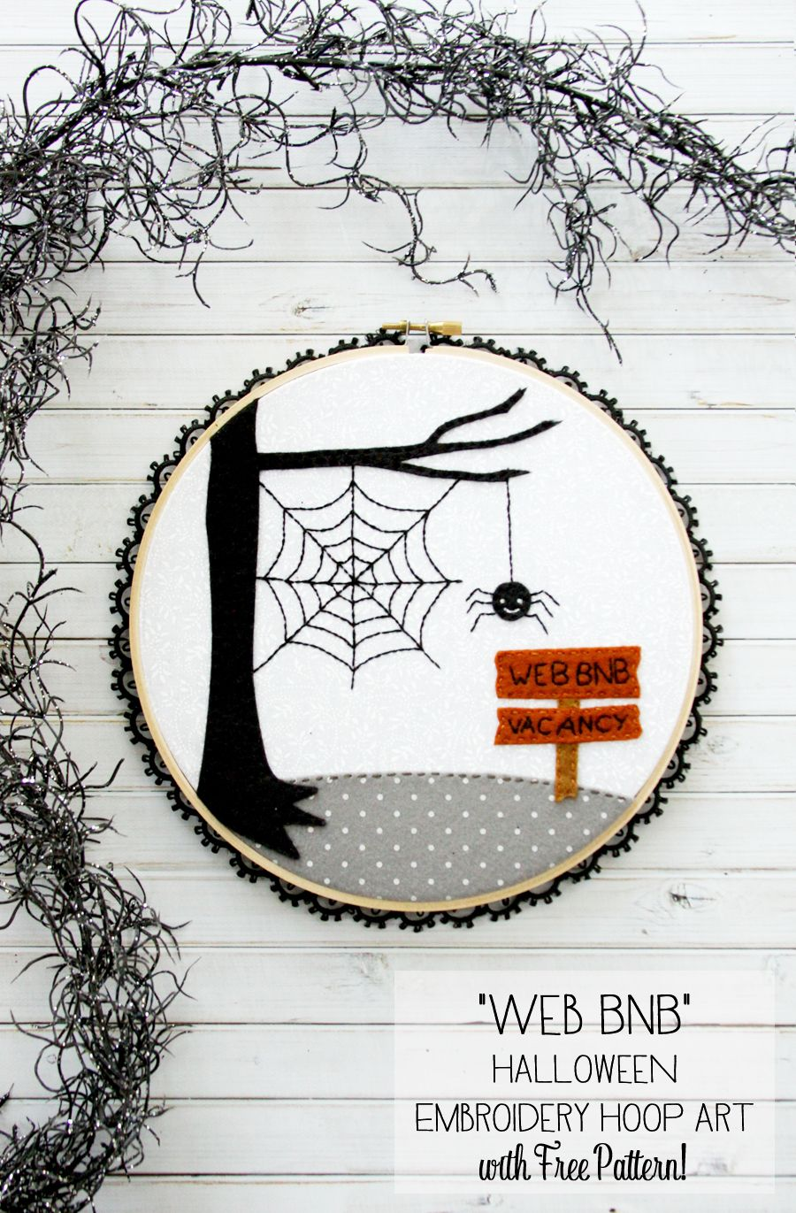 Web BnB Halloween Hoop Art | Autumn & Halloween | Halloween, Costura ...
