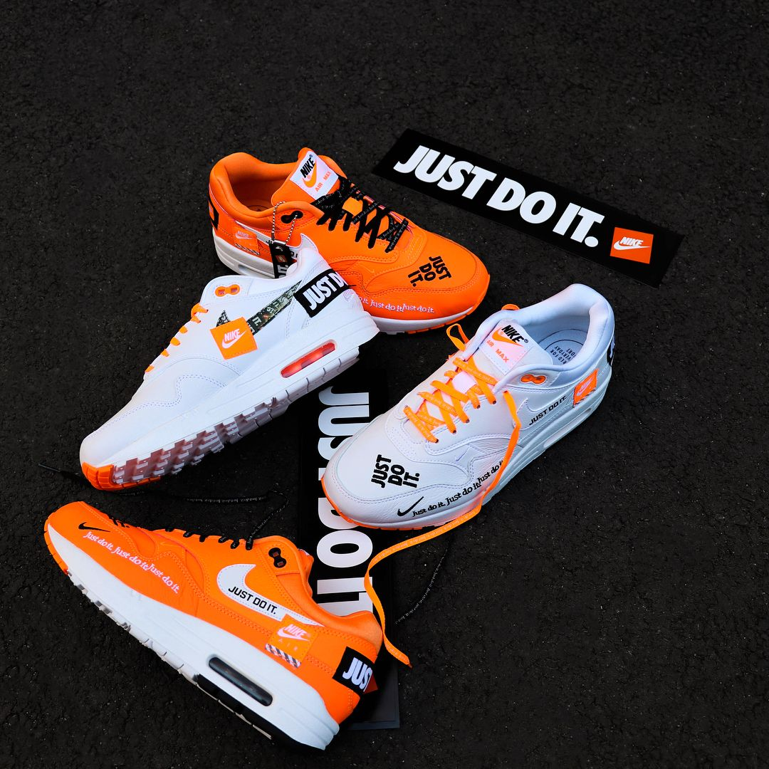 Follow the motto, Nike Air Max 1 Just Do It Pack   Nouvelle