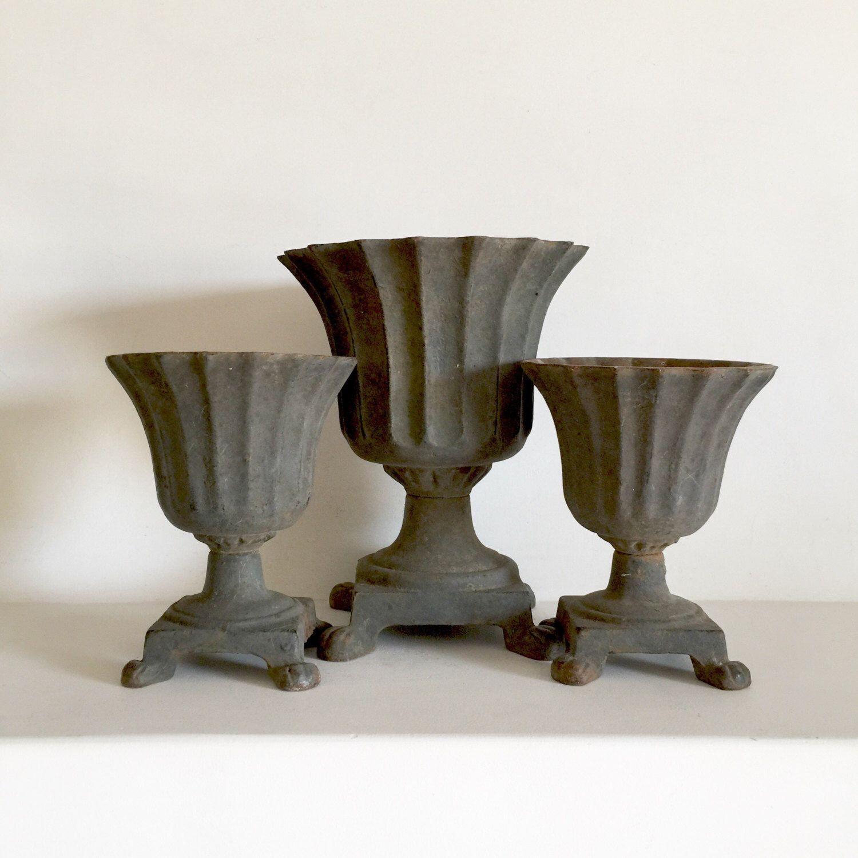 Small Decorative Urns French Antique Cast Iron Urns  Decorative Urns  Garden Planter