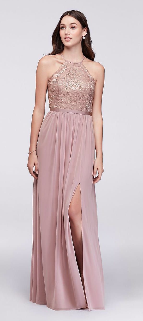 Rose Gold Bridesmaid Dress | Cuerpo triángulo invertido, Triángulo ...