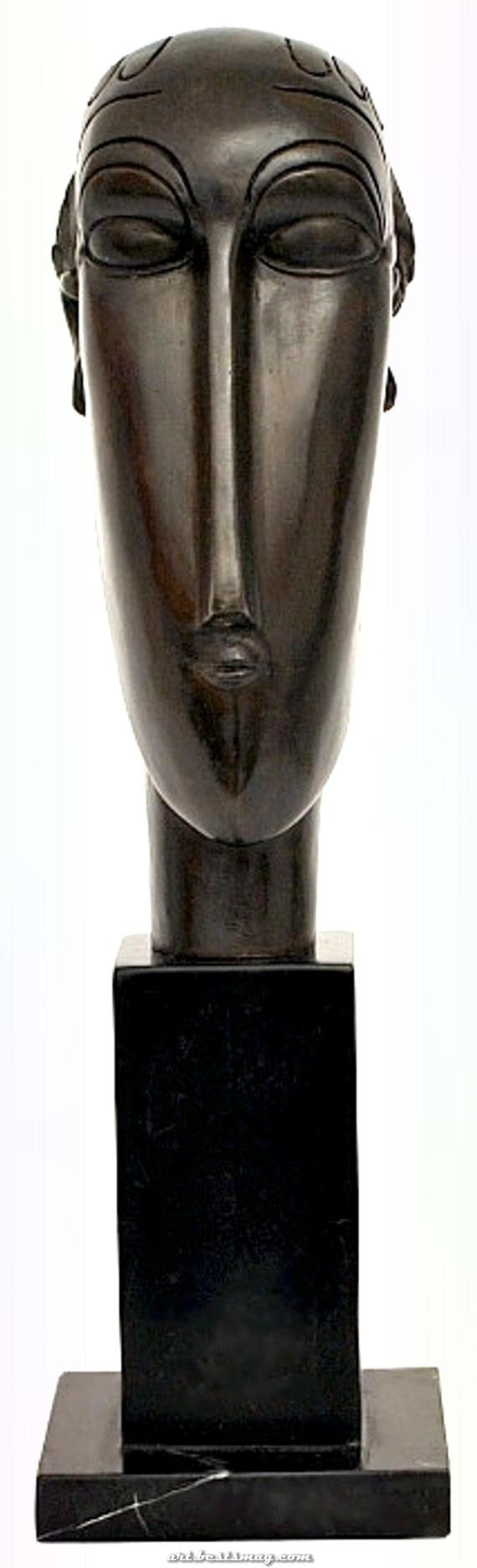 Excellent Amedeo Modigliani-Tribute - Brun-Oeuvre - The Head Of Caryatid  #amedeo #caryatid #modigliani #oeuvre #tribute