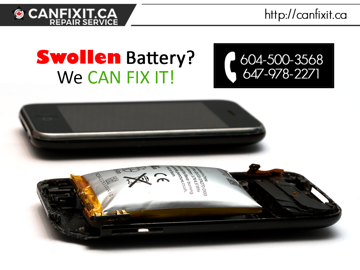 Swollen phone battery? WE CAN FIX IT! Dial +1 604500