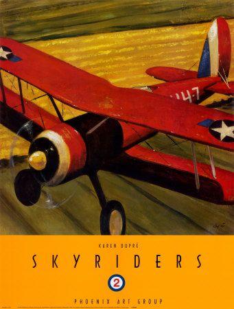 Vintage airplane poster