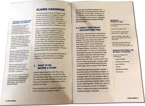 National Flood Insurance Program Claims Handbook From Femai Found