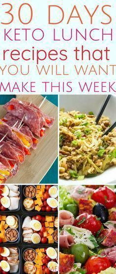 Use this 30 day plan for keto based lunch recipes to move forward into a healthier lifestyle. #keto...
