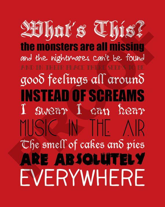 printable the nightmare before christmas lyrics by jaydotcreative - Whats This Nightmare Before Christmas Lyrics