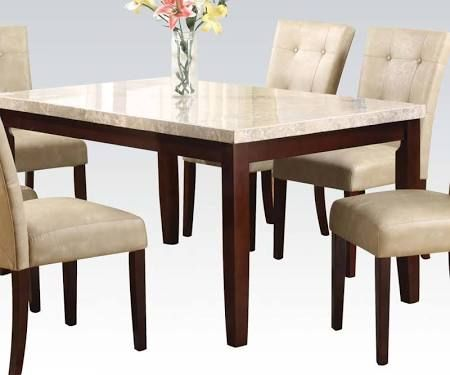 Acme 17058 Marble Top Dining Table In Espresso Finish Marble