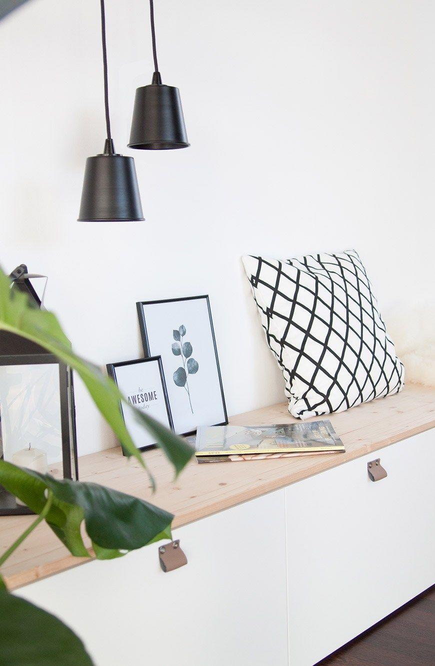 sitzbank im flur aus ikea bestå | sori writes · hallway 1