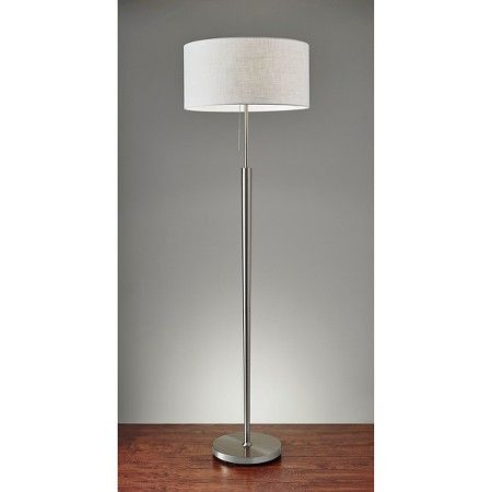 Adesso hayworth floor lamp silver floor lamp target and room decor adesso hayworth floor lamp silver target mozeypictures Image collections