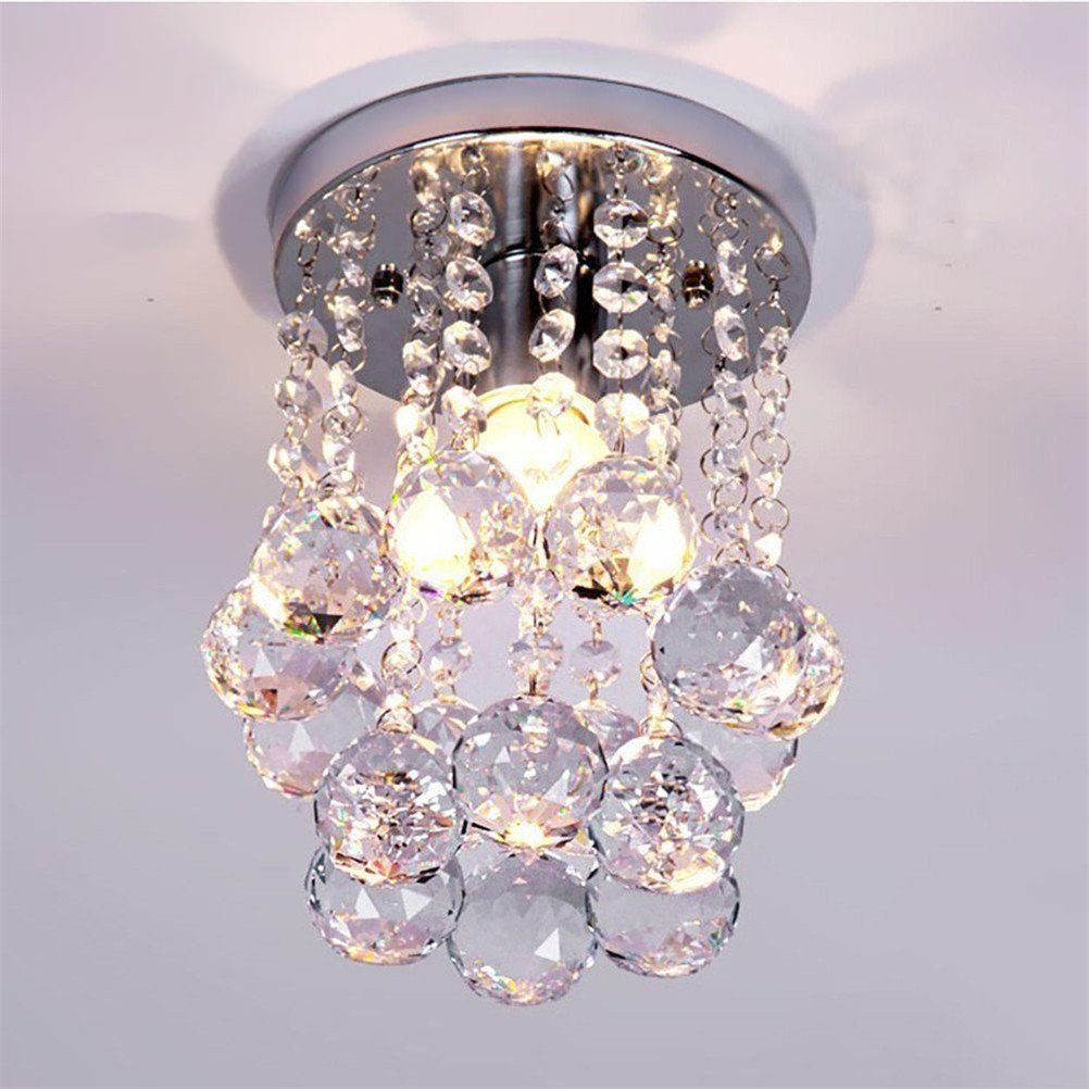 Mini Modern Crystal Chandeliers Flush Mount Rain Drop Pendant Ceiling Light For Girls Room Bed Crystal Ceiling Lamps Crystal Chandelier Lighting Ceiling Lights