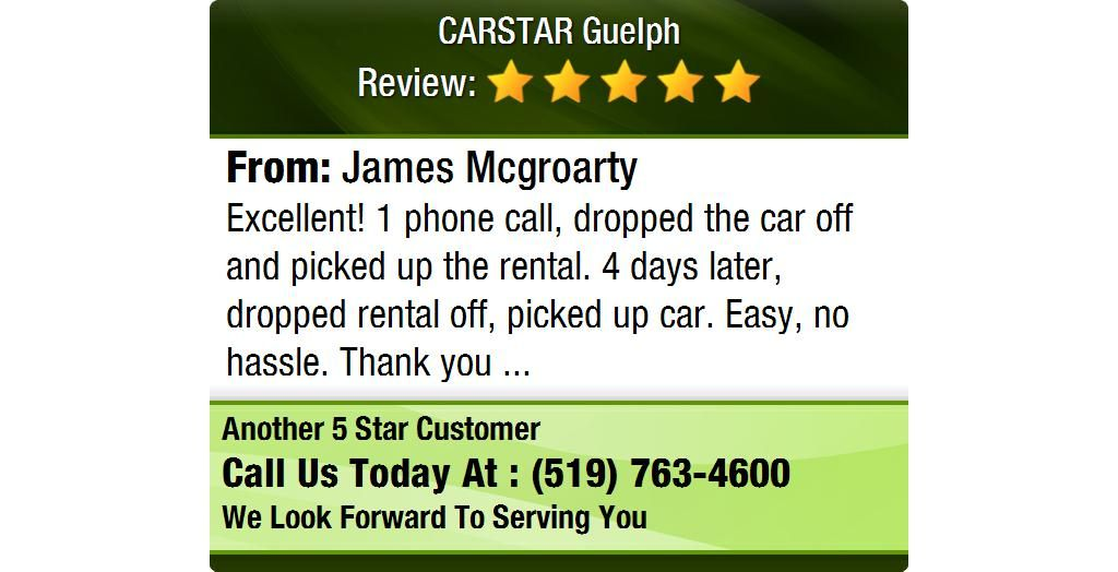 Excellent! 1 phone call, dropped the car off and picked up