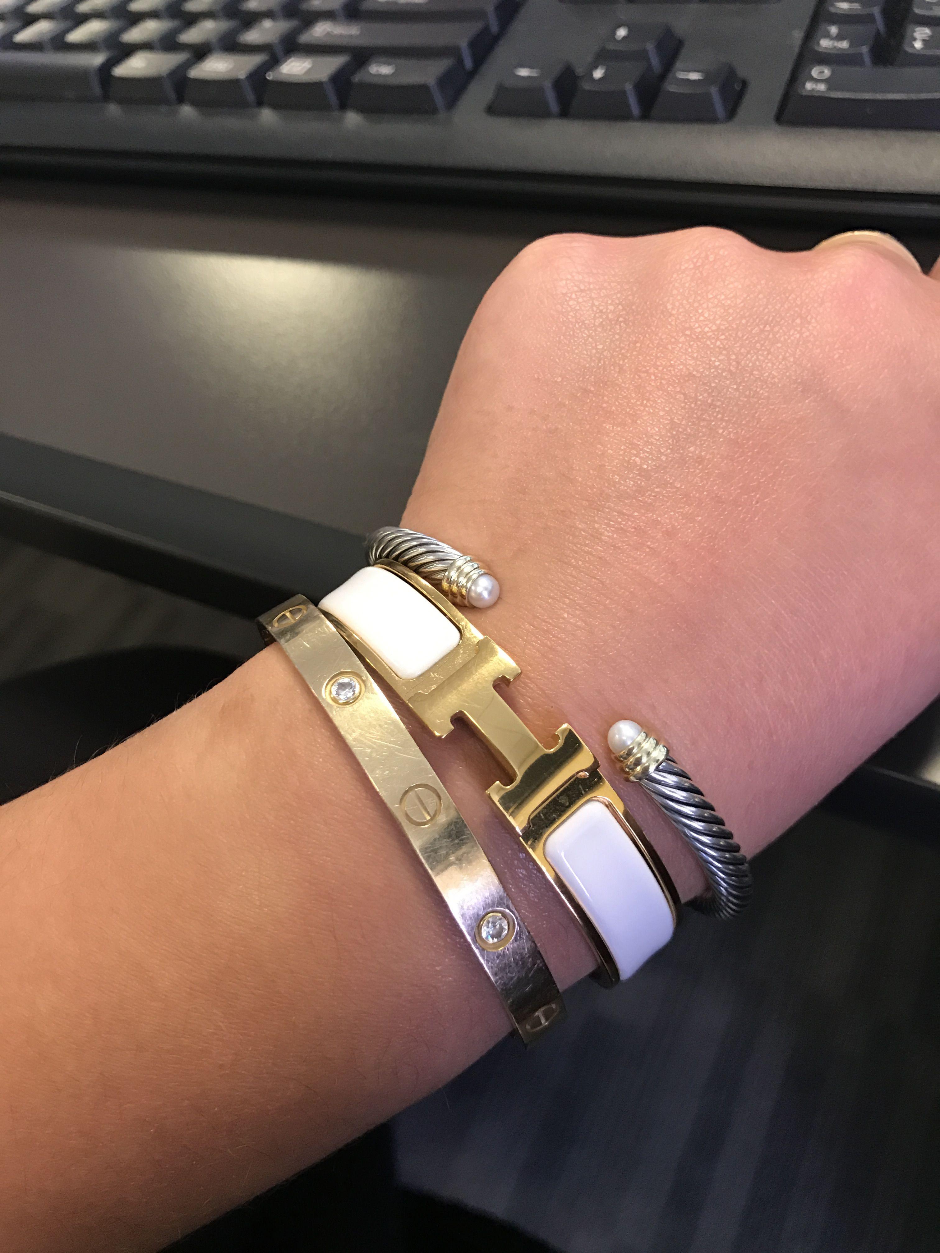 Cartier Love Bracelet Hermes H And David Yurman
