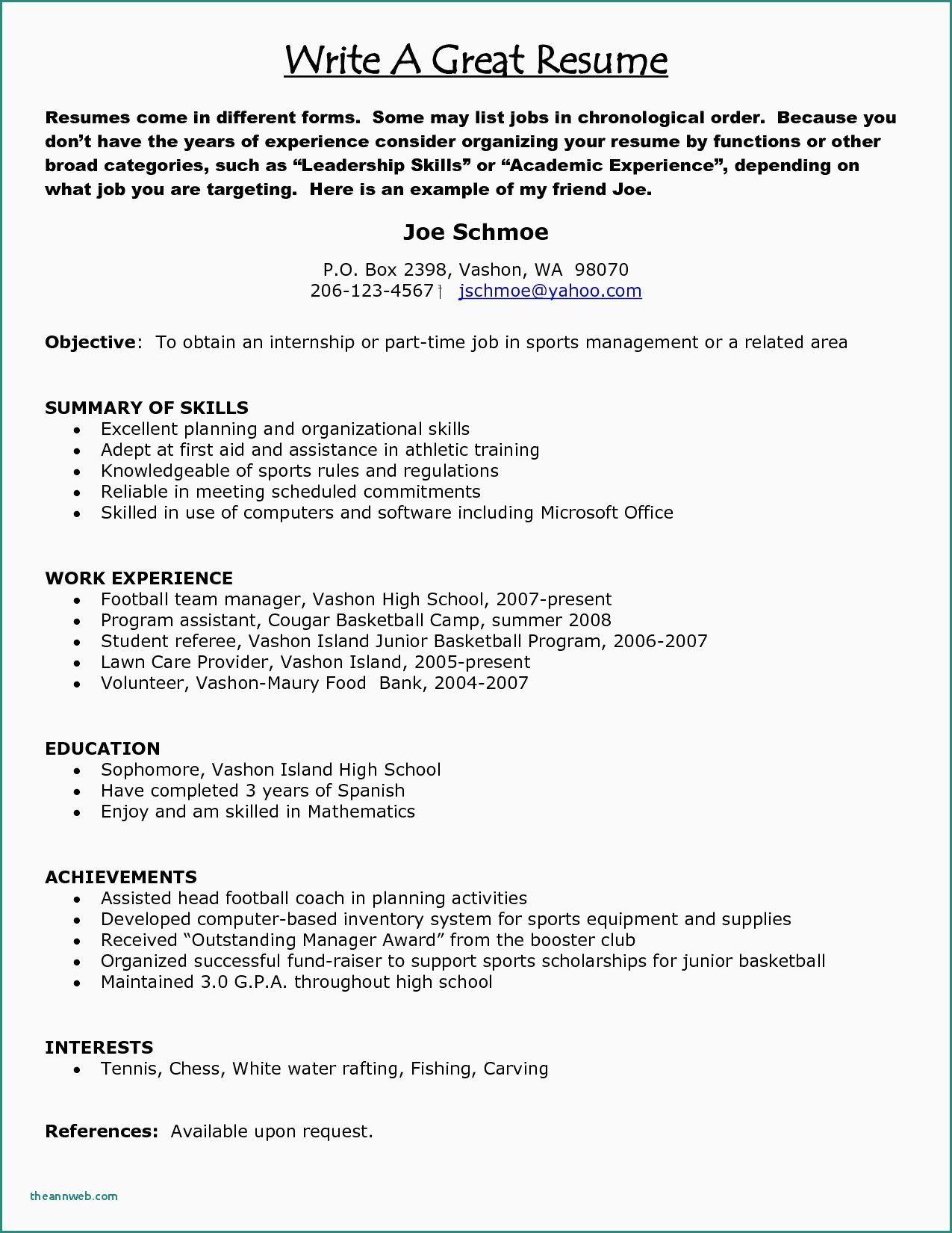 Barista Job Description for Resume Luxury 9 10 Template