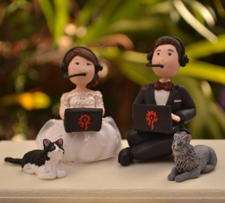 Gamer wedding cake topper wow warcraft etsy affiliate link