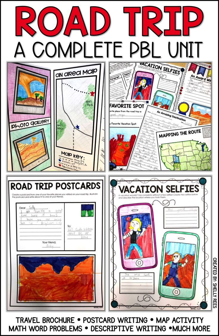 pbl project road trip project project based learning math ideas