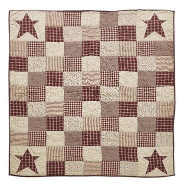 Enjoy Our Exclusive Cheston Primitive Star Quilted Throw This Custom Design Can Only Be Found At Quilt